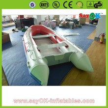 Popular pvc inflatable boat cheap inflatable pontoon fishing rigid hull boat
