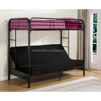 twin size black futon bunk bed metal frame metal sofa bunk bed