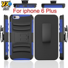 3-In-1 Rugged Heavy Duty Shockproof with Kickstand Combo Case for iPhone 6 Plus Cover Cases