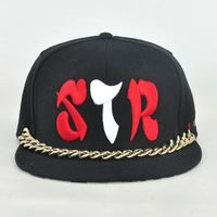 acrylic flexfit sports caps/customized flat brim snap back caps/material for custom snapback cap