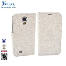 Veaqee mobile accessories flip case cover for samsung galaxy s4 mini i9190