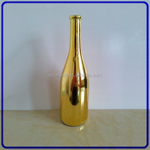 750ml UV glass bottle of red wine with cork