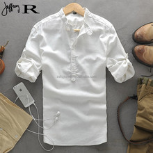 solid color/Chinese style comfort casual men's shirt/ comfort casual Tshirt/latest design men shirts of 2015