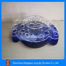 Blue base candy shape makeup acrylic organizer, personalized makeup acrylic organizer