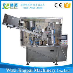 High quality automatic cosmetic cream soft tube filler sealer machine with coding