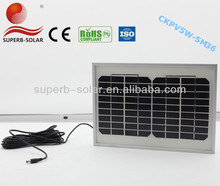 top quality and low price photovoltaic 12v 5w solar panel