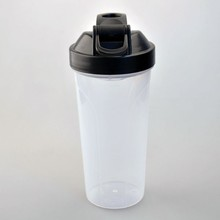 Factory wholesale plastic protein shaker/shake bottle with whisk ball