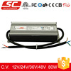 KV-36080-TD high-precision economical dimmable waterproof 80w led driver power supply