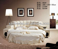 Healthy High Quality Silver Round Bed