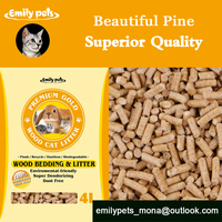 2015 Lovely Cat Products Organic Pine Non Clumping Cat Sand