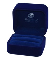high quality fashion blue jewelry box velvet wholesale