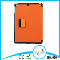 Oblique fabric stand leather case for iPad 5