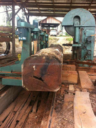 round log dia.1200mm used Vertical Band Saw Machine with log carriage/sports car for wood planks cutting