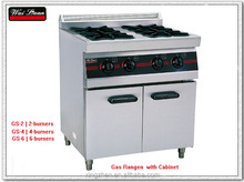 gas range with cabinet
