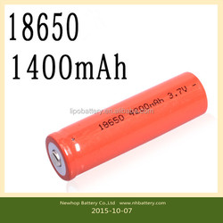 18650 high capacity rechargeable lithium battery / 3.7V lithium ion battery flashlight / lithium battery
