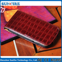 for iphone 5 leather case, for iphone 5s case leather, CROCO leather case for iPhone5