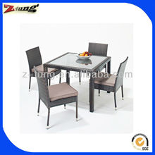 aluminum rattan antique white dining room furniture sets ZT-1085CT