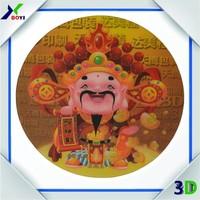 Anti-slip plastic PET 3D lenticular coaster/Custom Clear Plastic coaster, 3D Lenticular coaster