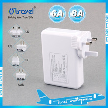 OEM ODM design 5 usb output 8A universal adapter for business travel industrial items seasons plug adapters ltiple plug adapter