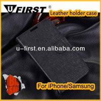 2013 new and hot custom magnet leather flip case for samsung S5