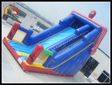 Inflatable Slide Spider Man Spiderman Slide spiderman character bouncer slide