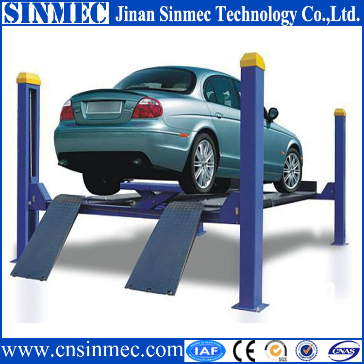 Sinmec Home Used 4 Post Parking Garage Car Lift With Ce