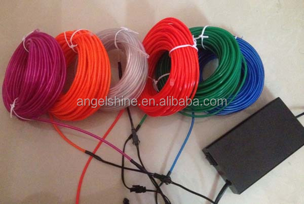 brightest el wire / el chasing wire /polar light 3 el wire in 10 different colors for 2014 best-selling product