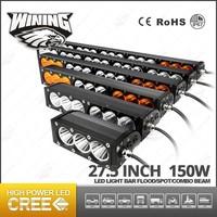 150W 27.5 Inch Auto Amber/White LED Light Bar, Fog Offroad Flood Spot Led Truck Car Lamp