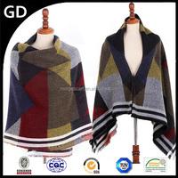 GDK0151 Knit geometry pattern blanket shawl bohemian fashion imitation brand scarf