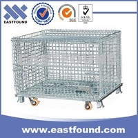 Low Price Promotional Storage Metal Wire Mesh Cage Bins