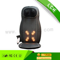 2015 Hot sale far infrared vibration kneading lumbar neck back massage chair health care for home ,office and car use
