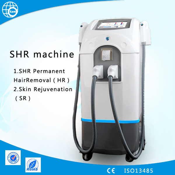 latest SHR hair removal machine / OPT painless permanent hair removal ...