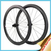 2015 YISHUNBIKE Ceramic Bearings carbon bicycle wheel 55mm tubular sapim cx-ray spokes road bike wheelset SLR550T