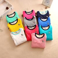 beautiful girl winter baseing t-shirt cotton thick shirt for girls latest korea style embroidery shirts
