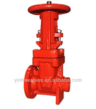FM UL Approved Resilient Seated Rising Stem Type Flange to Groove Ends Gate Valve