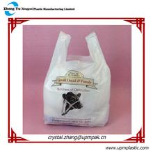 100% biodegradable t-shirt plastic shopping bag