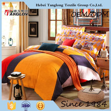 wholesale bright color comforter sets bedding of complete cotton and good quality