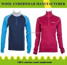 100%merino wool womens sportswear/underwear OEM ODM