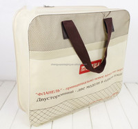 custom color printed pvc and non woven mattress bag with zipper wholesale