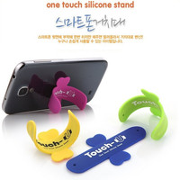 Removable Mobile Phone Silicone Holder Fashion novelty wholesale mini u shape phone holder for any phone