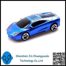 Car Model Mini Lamborghini Speaker With Digital Display FM Radio USB TF Car Toy Mini Portable Speaker Wholesale