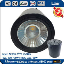 Suspended or ceiling surface mounted 50w cob led downlight