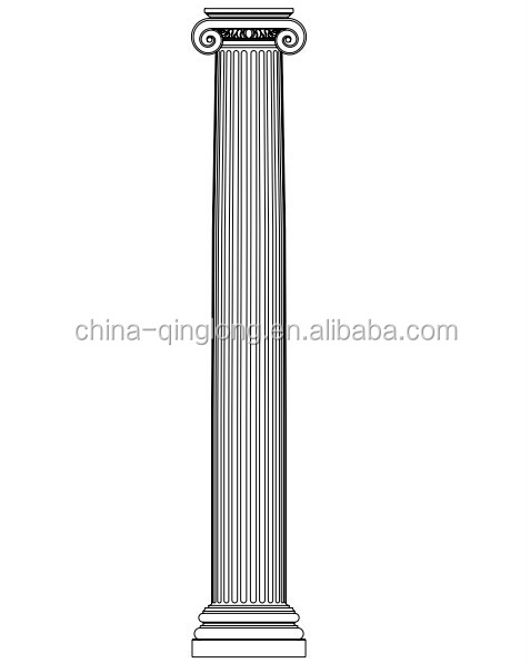 Grc frp fiberglass decorative roman column buy roman for Fiberglass architectural columns