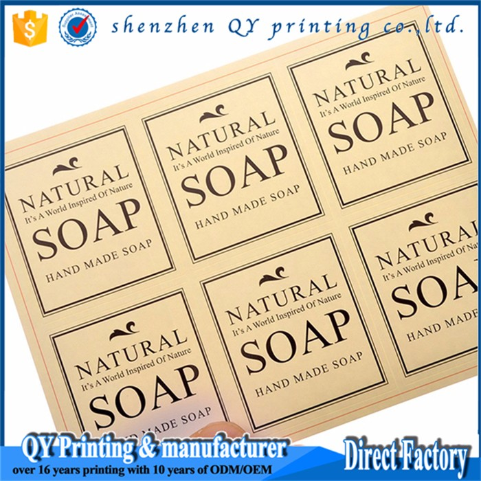 Beautiful cosmetic label printing,Liquid Soap Bottle Labels stickers