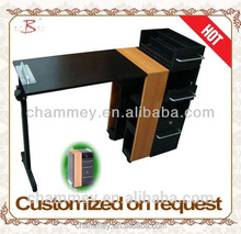 promotion wooden king size nail manicure desk with price,wood towable nail table