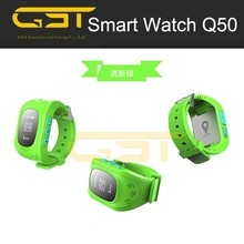 2015 Children Smart watch phone Q50 kids tracking GPS watch with SOS Function