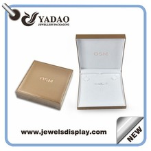 High quality newest design gold color jewelry packing boxes for ring ,earring ,necklace and pendant whole set made in China