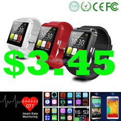 NEW! Hot Bluetooth 4.0 heart rate monitor android smart watch 2015, u8 smart watch, Smart Watch