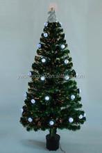 Popular Small Fiber Optic Full Led Light Balls Silver Angel Christmas Tree Ornament