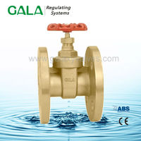 Brass flange ansi standard gate valve for water